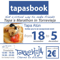 tapasbook torrevieja, nov 18 to dec 5.